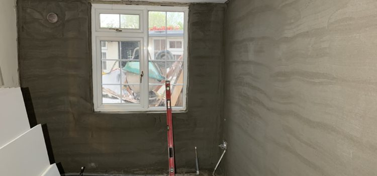 Rendering walls, examining showers
